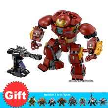 Super Heroes Movies Iron Man Hulkbuster Mech Smash-Up Set Building Blocks toys For Children Gifts Compatible Marvel Series 76104