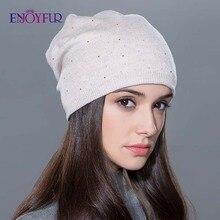 Женская зимняя шапка, вязаные шерстяные шапочки, Женская мода skullies, повседневные уличные Лыжные шапки, толстые теплые шапки для женщин