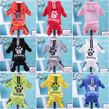 Dog clothing hoodie autumn and winter pet sweater warm cotton pet jacket small and medium dog Teddy VIP clothing hooded sweater цена