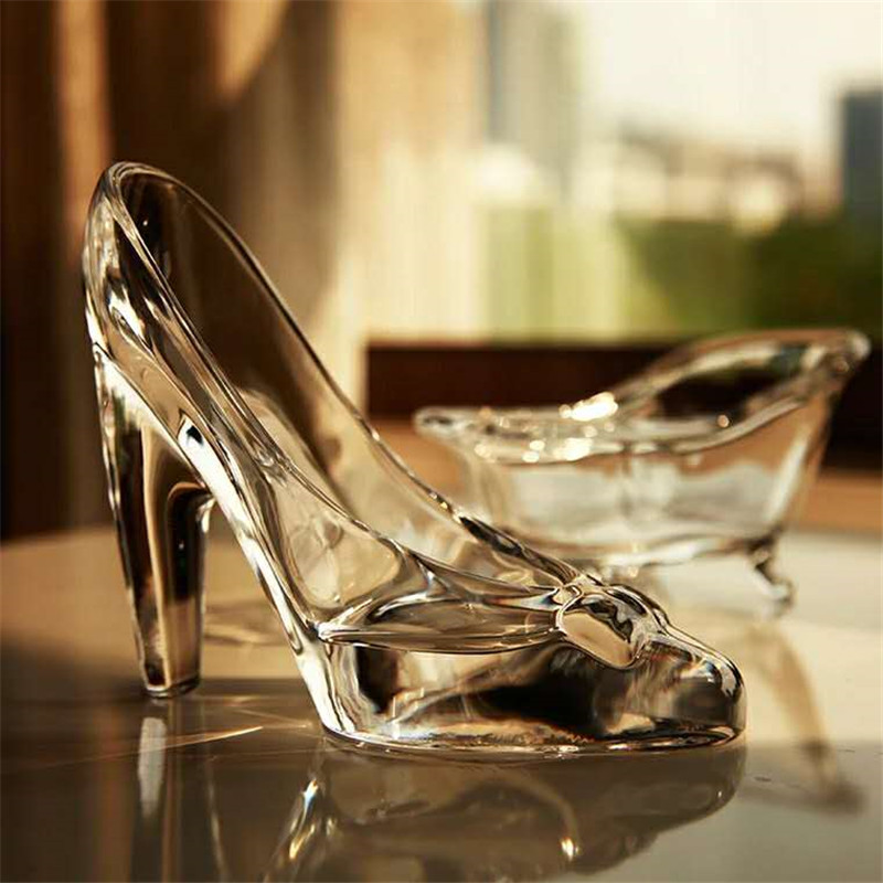 Хрустальная обувь, стеклянные тапочки, подарок на день рождения, домашний декор, Золушка, обувь на высоком каблуке, свадебные туфли, фигурки,...