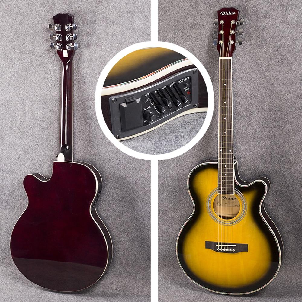 40 inch Electric Acoustic 6 String Guitar Pick up Equipment Steel Strings Folk Guitar Pop Guitar Profession Guitarra AGT122 - 6