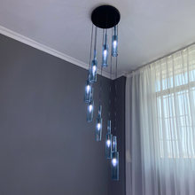 Long Chandeliers Staircase Crystal Spiral Chandelier Lighting Flush Mount Chandeliers Ceiling Hanging Lights suspension light