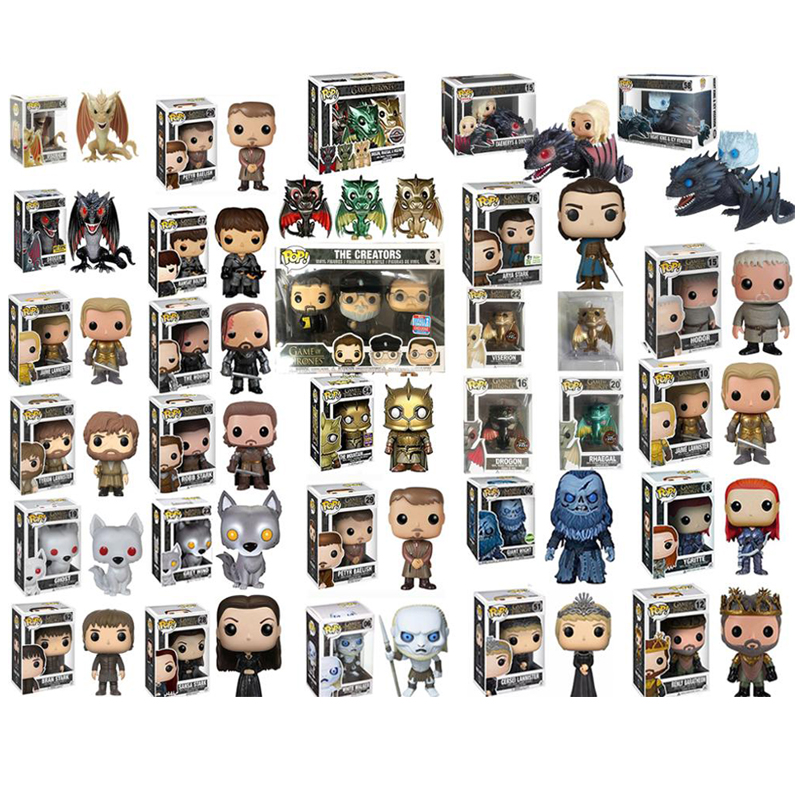 FUNKO POP Game Of Thrones ARYA STARK The Mountai The Hound Jon Snow Daenerys Targaryen Drogon Ghost Tyrion Lannister  Figures