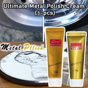 Ultimate Metal Polish Cream Rust Remover Stainless Steel Ceramic Watch 1PC polishes protects detergent Cleaner emove tarnish image