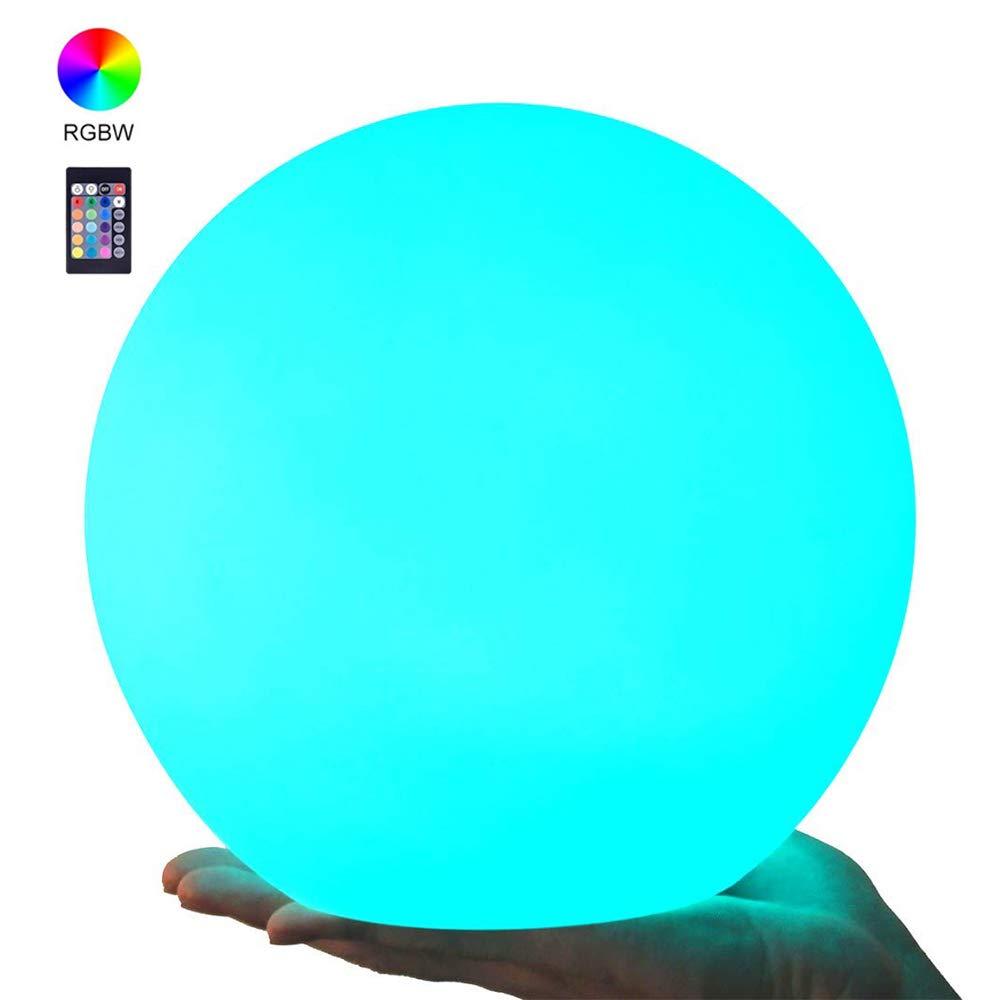 LED Waterproof Light Ball RGB Dimmable Globe Mood Lamp With Remote Control 16 Colors Changing Floating Pool Lights, Rechargeable