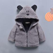 2019 Winter baby cotton Cute long sleeve kids coats party unisex solid color clothing for children outwear warm clothes