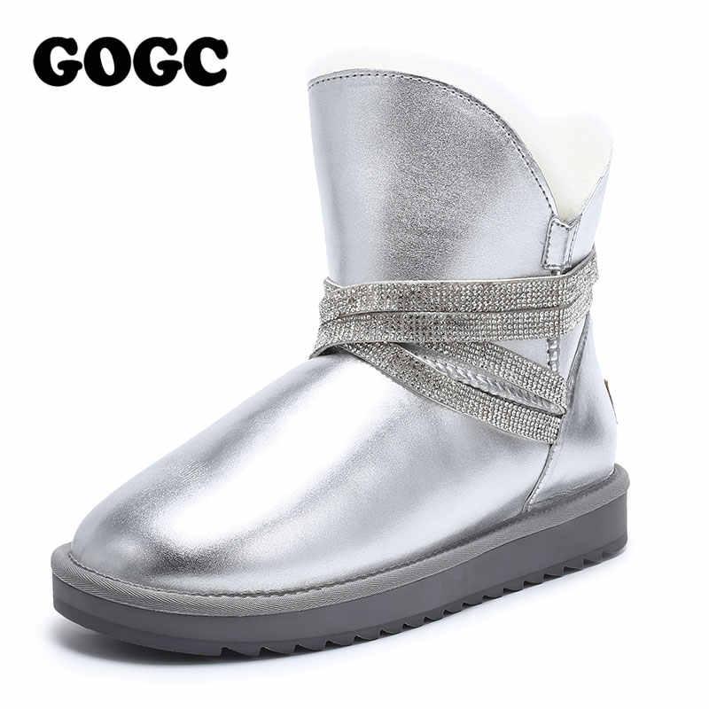 GOGC schnee stiefel stiefel frauen winter stiefel frauen knöchel stiefel für frauen Aus Echtem Leder stiefel frauen stiefel 2019 frauen winter schuhe