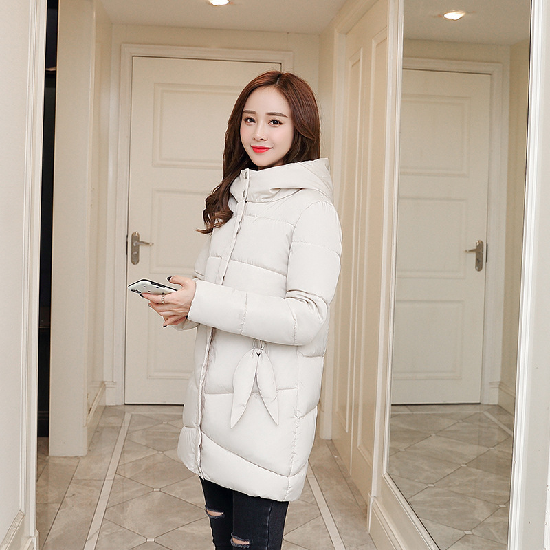 Женская зимняя куртка с хлопковой подкладкой, теплая утепленная женская элегантная куртка, длинное пальто с капюшоном, парка, женские куртк...