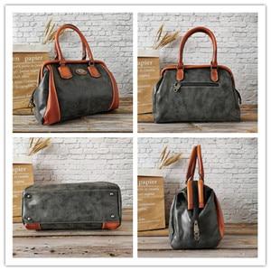 Image 3 - IMYOK Vintage Leather Womens Totes Luxury Hand Bags Ladies Designer Handbag Large Capacity Women Shoulder Bag Feminina 2020