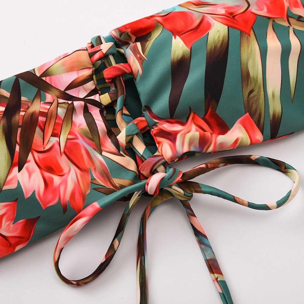 Traje De baño brasileño De dos piezas para mujer, conjunto De Bikini De vendaje De Bandeau, traje De baño Sexy con hombros descubiertos, traje De baño para mujer