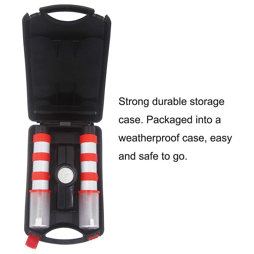 1 Set Led Emergency Roadside Flashing Flares Safety Strobe Light Road Warning Light Beacon Magnetic Base Detachable Stand