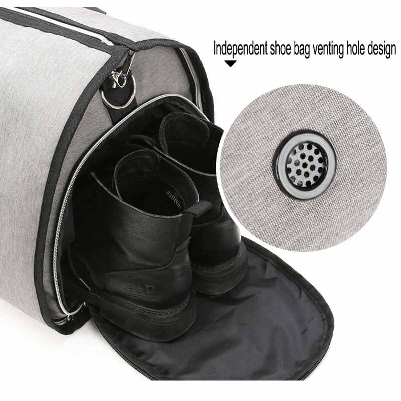 OZUKO Grote Capaciteit Mannen Reistas Multifunctionele Pak Opslag Handbagage Tassen voor Reis Waterdichte Plunjezak met Schoen Pocket
