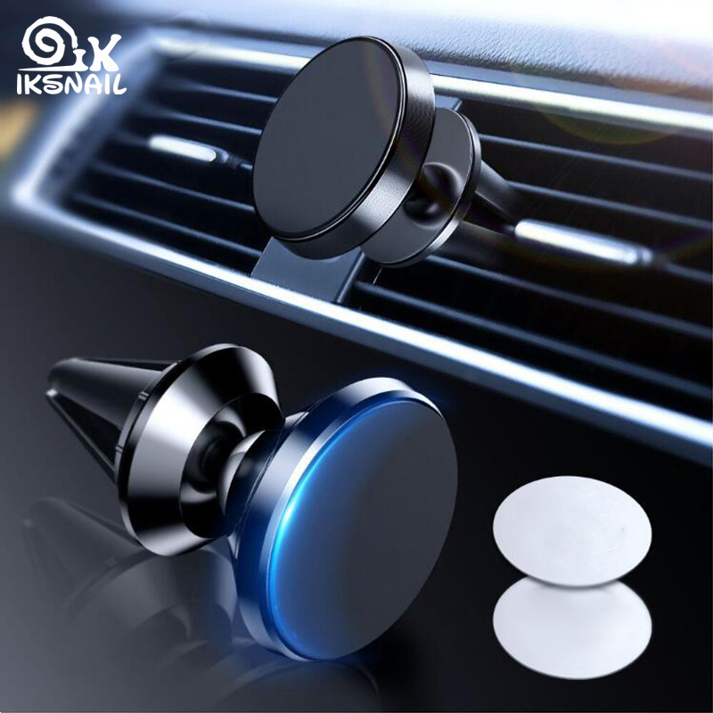 IKSNAIL Magnetic Car Phone Holder For Samsung Galaxy Note 9 8 Air Vent Mount Magnet Phone Holder For IPhone XS Max GPS Stands