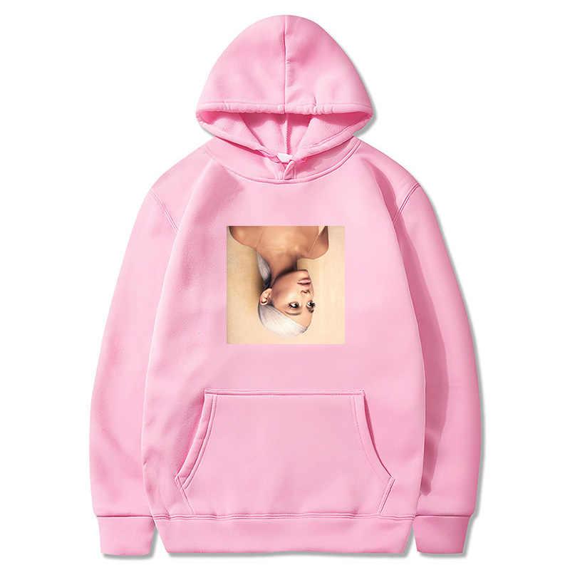 Ariana grande hoodies moletom feminino casual manga longa streetwear feminino outono inverno engrossar camisolas kpop oversize 3xl