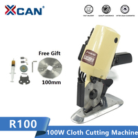 XCAN R100 Electric Cloth Cutting Machine 110V/220V 100W Leather Fabric Electric Cutter Machine Sewing Power Tool