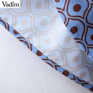 Image 5 - Vadim women fashion boho maxi dress V neck tassel tie long sleeve straight style casual ankle length dresses vestidos QD122
