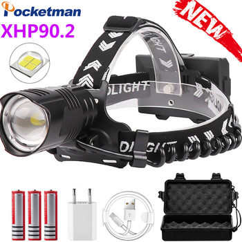 Upgrade 10000LM XHP90.2 Powerful Led Headlamp Head lamp USB Charging Headlight Waterproof Zoom Fishing Light Use 18650 Battery 1