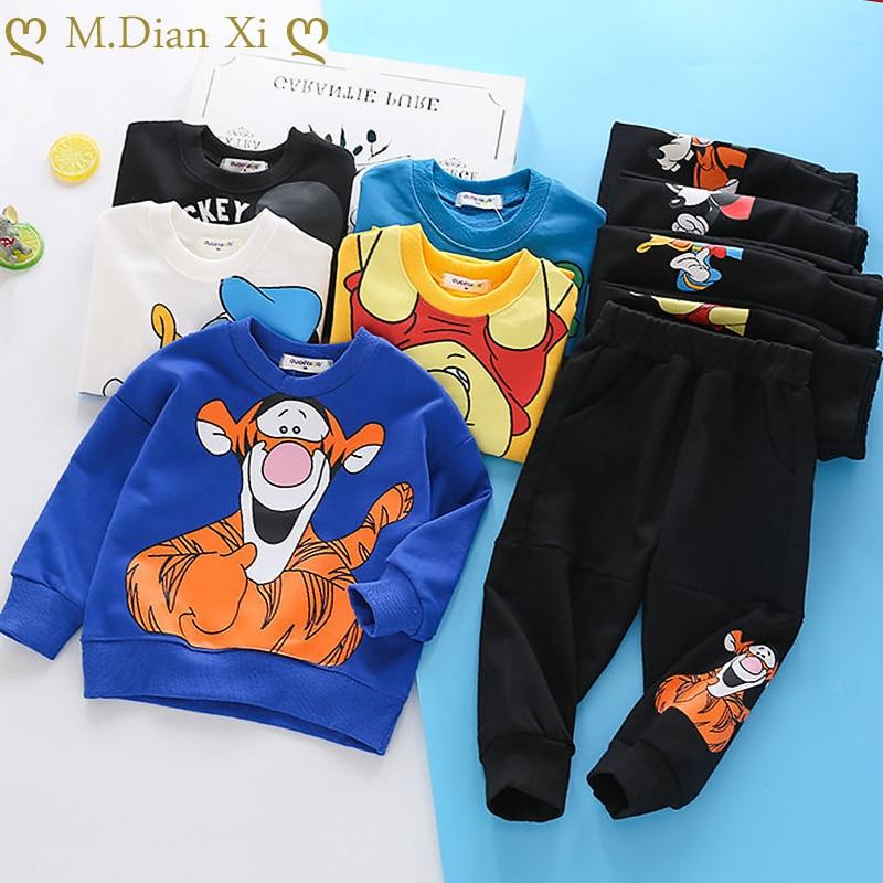 2PCS Jungen Outfits Baby Jungen Kleidung für Kinder Kleidung Kleinkind kinder Joggen Cartoon Casual Sport Anzug Kinder Kinder anzüge