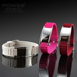 Image 5 - Potência ionics antifadiga silicone titanium íons equilíbrio turmalina germânio encantos pulseira pulseiras rotulação livre