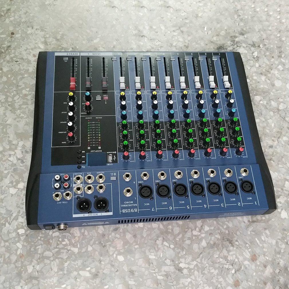 CT8 8 Kanaals Professionele Stereo Mixer Live Usb Studio Audio Geluid Console Netwerk Anker Apparaat Vocale Effect Processor - 3