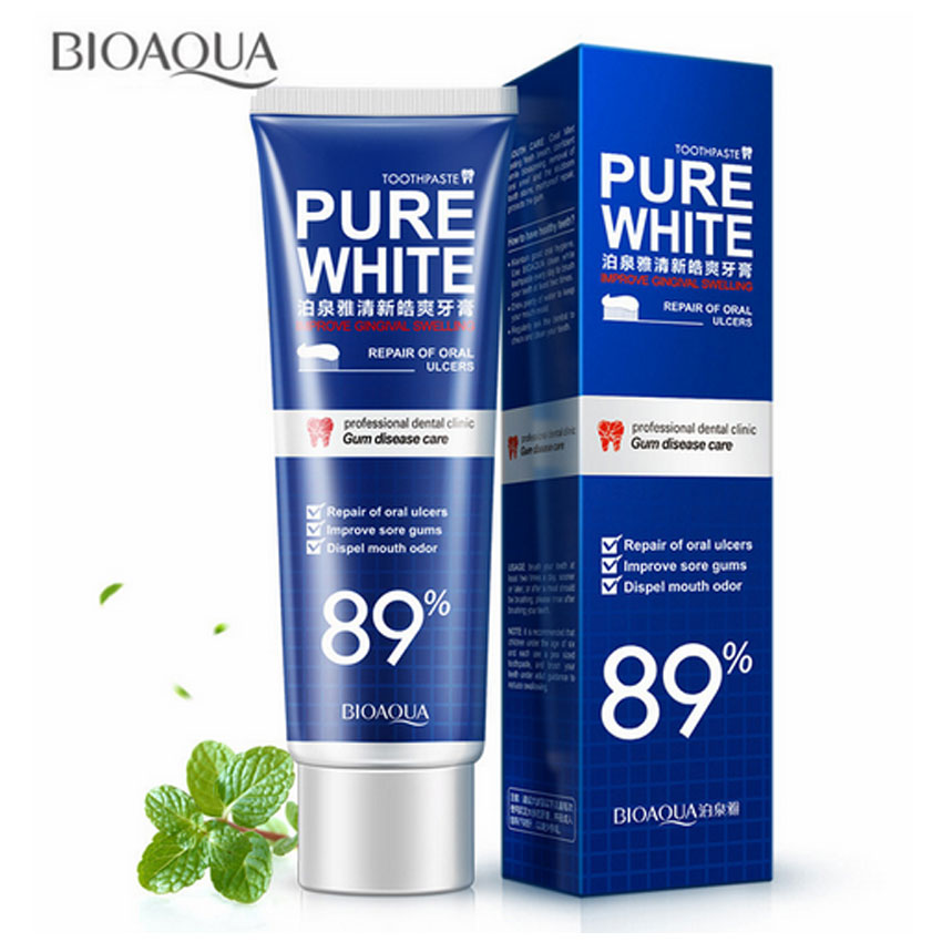 BIOAQUA Herbal Mint Fresh Toothpaste Whitening Remove Yellow Stains Halitosis Plaque Reduce Gingivitis Dentifrice Oral Care image
