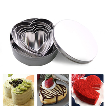 6pcs/sets Baking Mould Heart Cookie Cutter Heart Shaped Cookie Cutters Stainless Steel Biscuit Pastry Cutters cake Eggs DIY Mold ttlife unicorn animal cookie cutter stainless steel fondant cake baking mold sugarcraft chocolate pastry diy tools biscuit mould