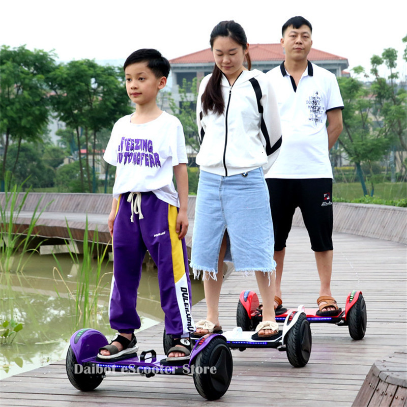 Daibot Off Road Electric Scooter Foldable 2 Wheels Self Balancing Scooters Double Drive 250W 36V Hoverboard Skateboard Bluetooth (28)