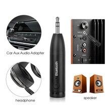 KEBIDU Bluetooth 5.0 Kit de voiture mains libres Mini 3.5mm USB adaptateur Audio Bluetooth récepteur de musique Auto pour voiture haut parleur casque