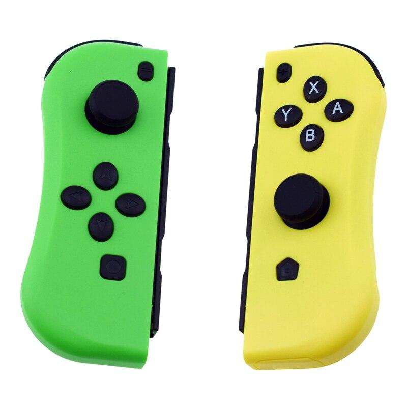 Pour Ns Joy-Con (L/R) manettes de jeu Bluetooth sans fil manette de jeu pour Console de commutateur nintention (jaune + vert)