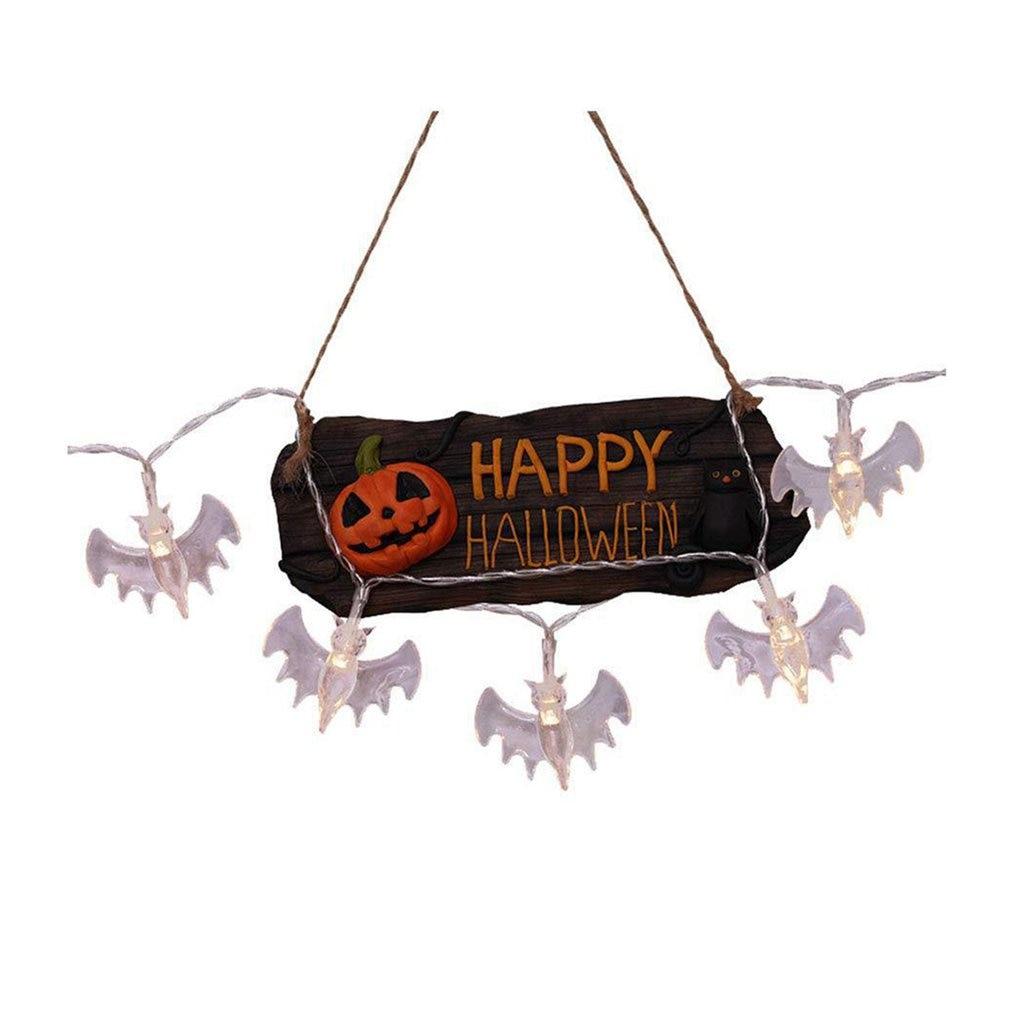 Halloween Pumpkin String Lights 3D Halloween Lantern Party Home DIY Decor Warm White Battery Operated Light