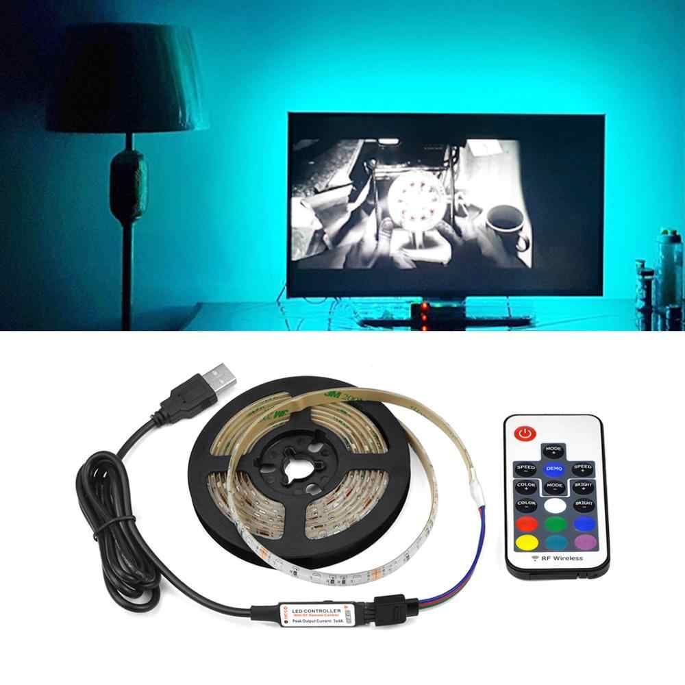 USB Led Flexible Strip Lampu Kamar Lampu Led TV Backlight Rgb Tape Pita Xmas Dekorasi 2835 Tira De Led untuk 2021 Rumah