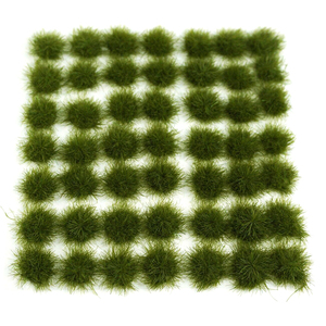 147Pcs Grass Cluster Static Grass Tufts For 1:35 1:48 1:72 1:87 Sand Table Architecture Model Toy Gift - Dark Green/Medium Green