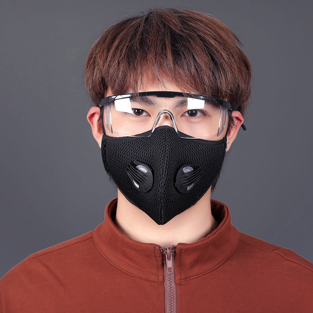 Activated Carbon PM2.5 Dust Mask Cycling Face Mask Men Women Sport Bicycle MTB Road Bike With Filter Anti-Pollution Masks 3
