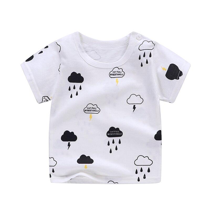 Хлопковые летние мягкие шорты для малышей, футболка Милая Одежда для мальчиков и девочек с рисунком дождя дешевые вещи для От 0 до 6 лет|Футболки|   | АлиЭкспресс
