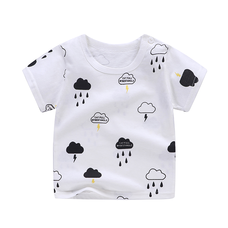 Cotton Summer Baby Children Soft Shorts T-shirt Todder Boy And Girl Kids Rain Cartoon Cute Clothes Cheap Stuff For 0-6Y