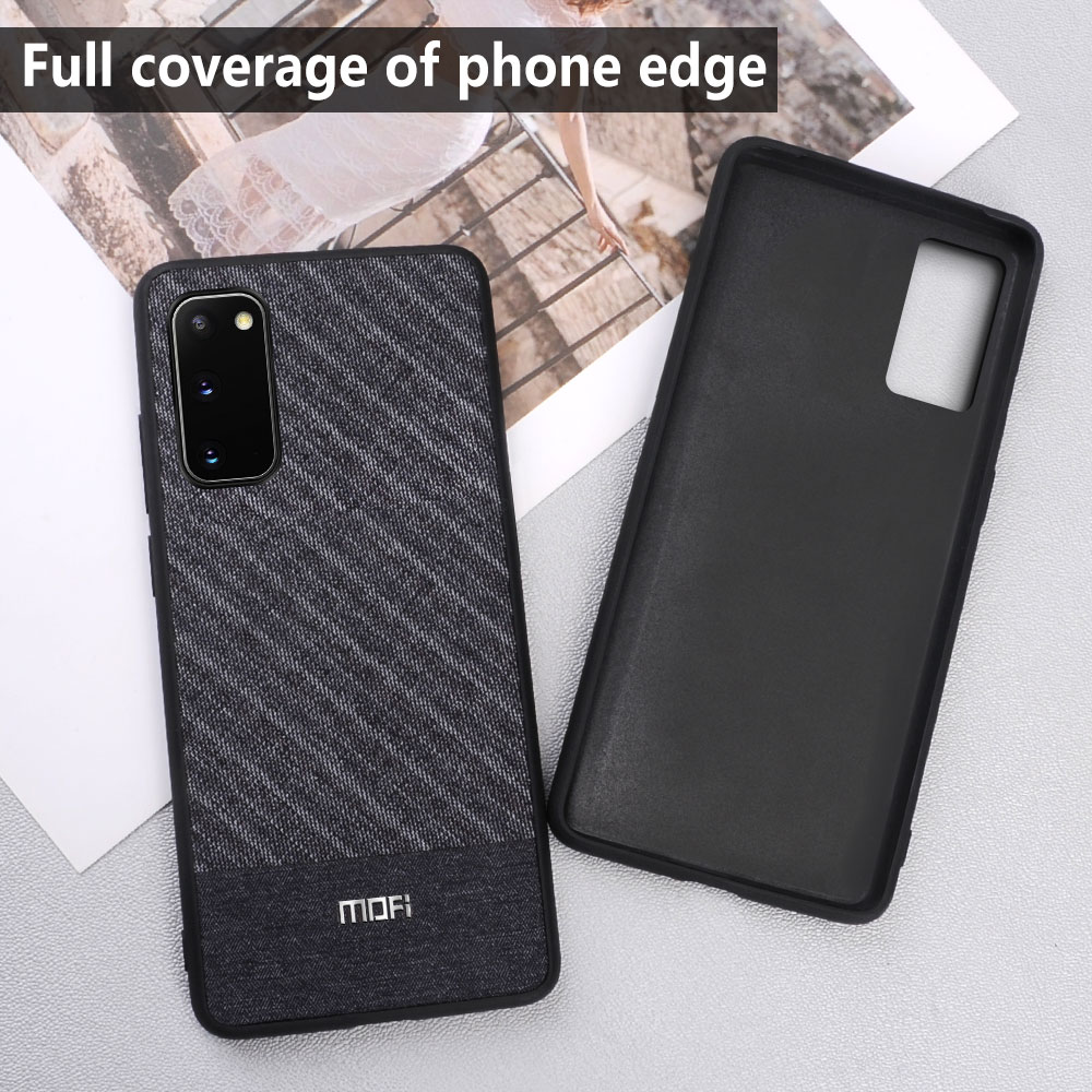 MOFi case for Samsung S20 Ultra case shockproof back cover for Galaxy S20+ Plus luxury cloth coque capas silcone housing cases