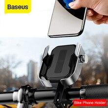 Baseus 오토바이 전화 홀더 지원 모토 자전거 후면보기 미러 핸들 바 스탠드 마운트 스쿠터 모터 자전거 전화 홀더