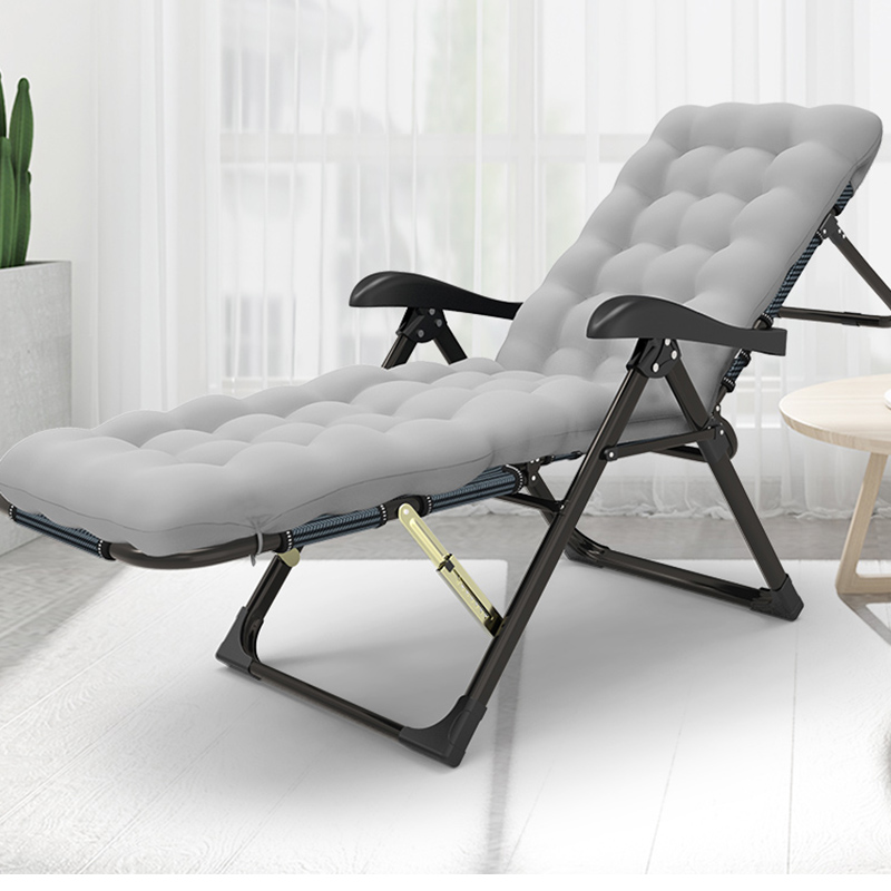 Folding Chair Lunch Break Nap Bed Backrest Chair Lazy Couch Beach Home Leisure Portable Balcony Recliner Chair
