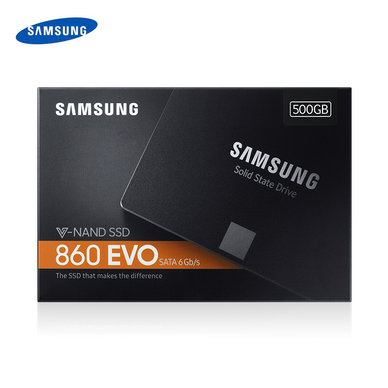 Samsung SSD 4T 2TB <font><b>1TB</b></font> 500GB 250GB Internal Solid State Disk HDD Hard Drive SATA3 2.5inch Laptop <font><b>Desktop</b></font> PC Disk <font><b>HD</b></font> 860 EVO image