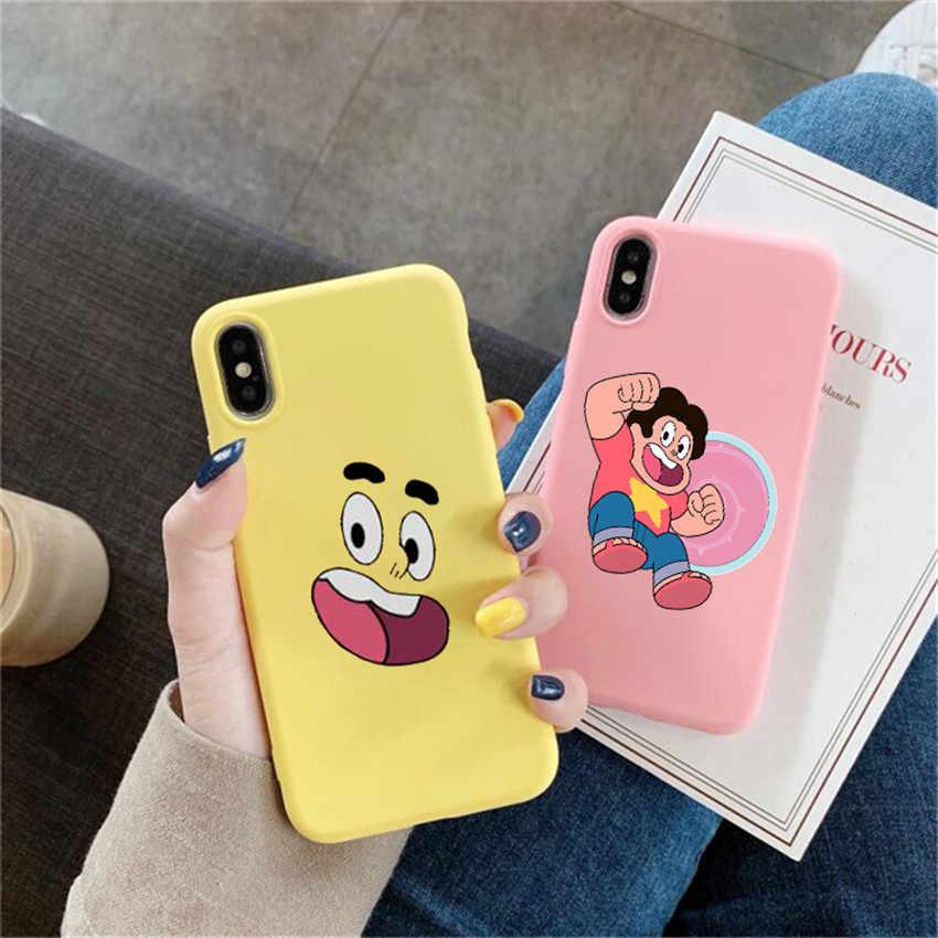 Steven Universe Steven telefon Fall Für iPhone X 7 Plus XS 10 Fall Silikon Telefon Abdeckung Für iPhone 6S 8 6 Plus XS Max Fall