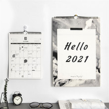 2021 Wall Calendar Agenda 365 Days Hanging Daily Notes Spiral To Do List Tearable Desk Calendar Decoration Planner Accessories