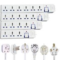 Tira de alimentación de cable de extensión regletas electricas AU CN EU US UK enchufe Universal toma de corriente Placa de alimentación de interruptor 1,5 m cable de extensión indicador de luz alargador enchufe