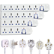 Extension Lead Power Strip AU CN EU US UK Plug Universal Socket Outlets Switch Power Board 1.5m Extension Cord 3500W 16A