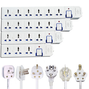 Image 1 - Extension Lead Power Strip AU CN EU US UK Plug Universal Socket Outlets Switch Power Board 1.5m Extension Cord 3500W 16A