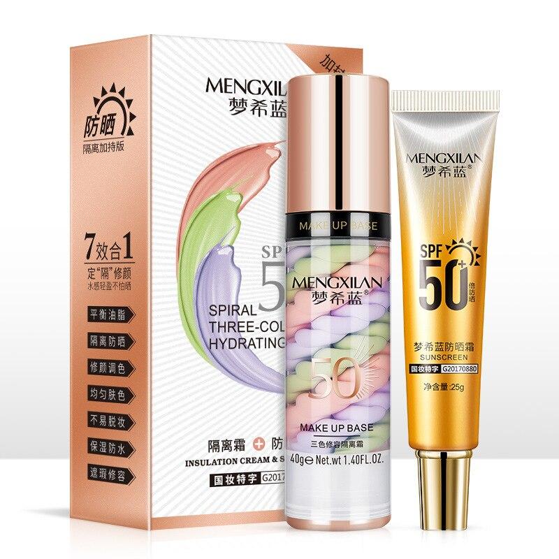 Bird Poop Isolation Sunscreen Combination Waterproof Sweat - Proof Refreshing Makeup Without Makeup Concealer Brightening Skin