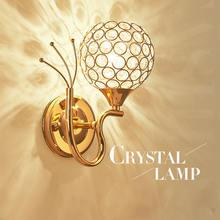 Круглая настенная лампа e27 светодиодсветодиодный хрустальные