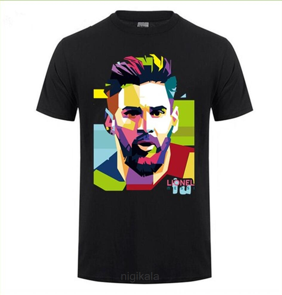 Fashion Printing Barcelona Men's Short Sleeve Messi 10 T-shirt Cotton Tshirt Tops Argentina Jersey Hipster Fans Tee Shirt
