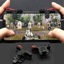 2pcs pubg moible telefone controlador gamepad fogo livre l1 r1 gatilho jogo almofada aperto joystick para iphone android acessórios com caixa