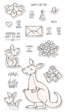 kangaroo Transparent Clear Stamps and cutting dies for DIY Scrapbooking/Card Making/Kids Christmas Fun Decoration Supplies