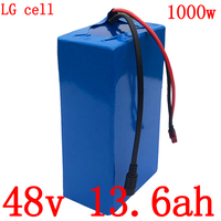 48V 1000W battery pack 48v 13ah electric bike battery 48V 12AH 13AH 13.6AH 14AH lithium ion battery use LG cell  with 2A charger